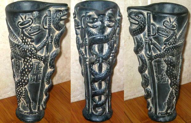 Symbolism of the Snake: Libation vase of Gudea