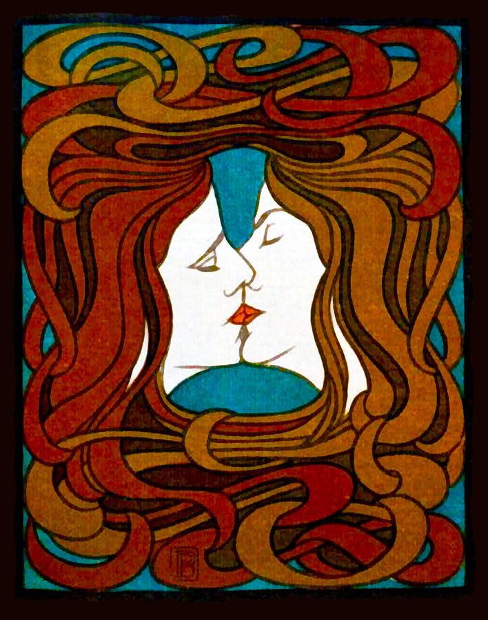 Dreams About Kissing: Two Women Kissing by Peter Behrens